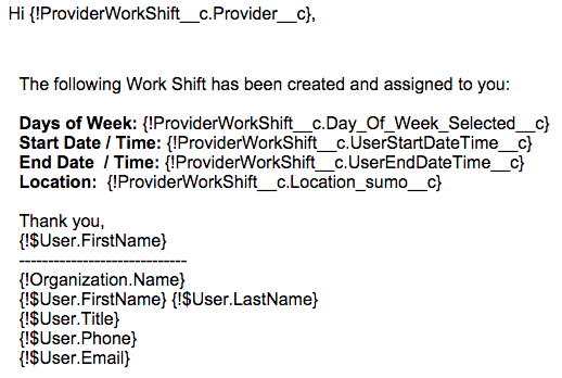 Work Shift Email Templates « SUMO Support